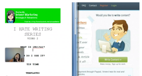 iWriter review screenshot